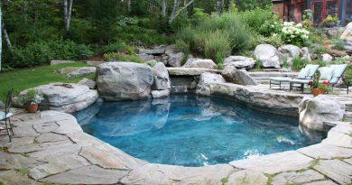 rustiek landelijk zwembad