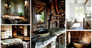 rustieke badkamers