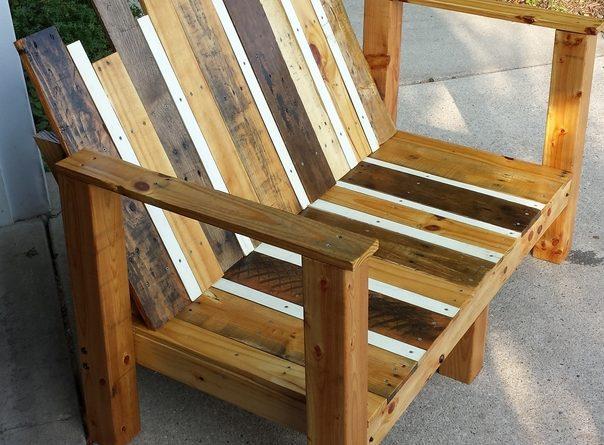 houten pallet bank