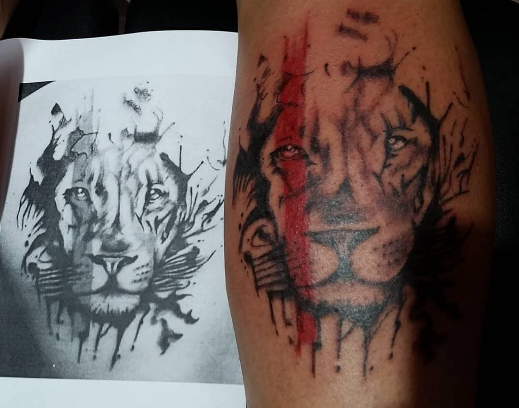 lion tattoo by pelusa tattoo crevillente