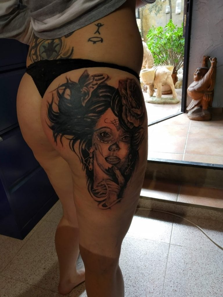 catrina cover tattoo