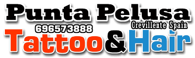 Punta pelusa tattoo Hair logo