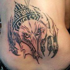 harley davidson eagle tattoo